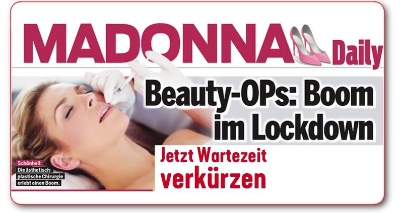 Madonna Magazin Lockdown Boom Beauty OPs